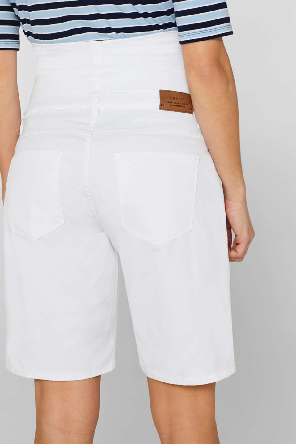 Chino shorts with an under-bump waistband, LCWHITE, detail image number 5