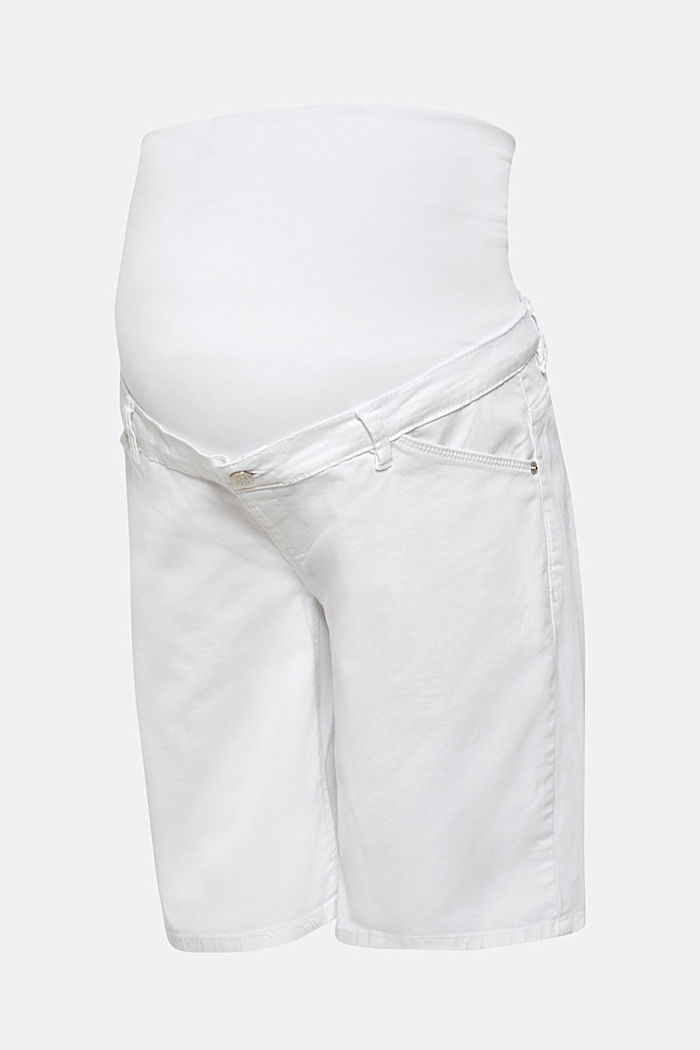 Chino shorts with an under-bump waistband, WHITE, detail image number 0