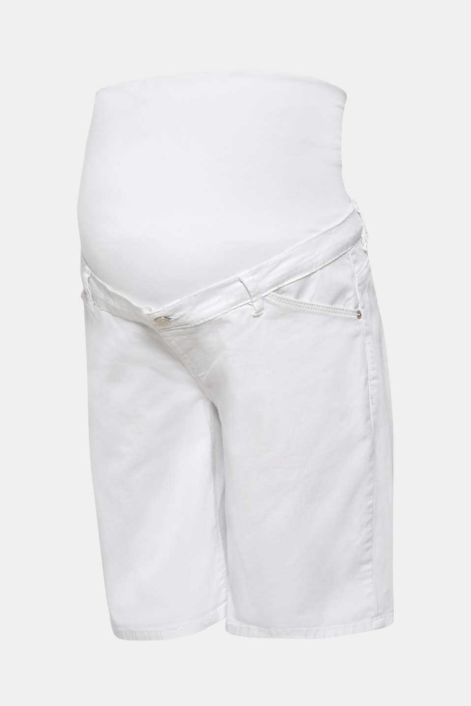 Chino shorts with an under-bump waistband, LCWHITE, detail image number 6