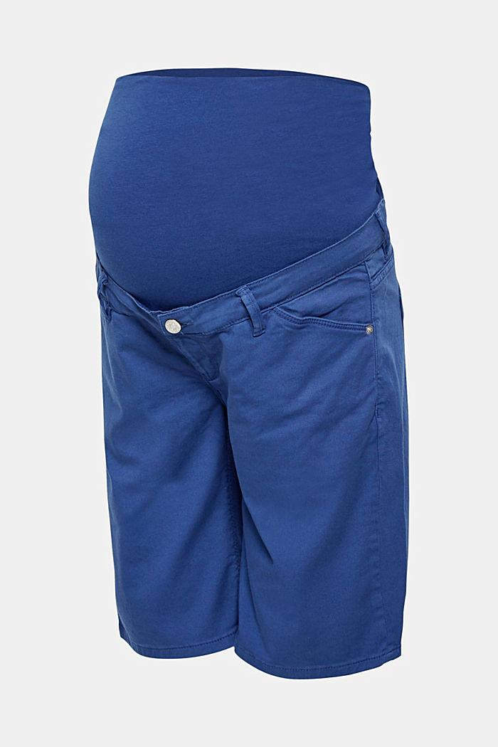 Chino-Shorts mit Unterbauchbund, DARK BLUE, detail image number 0