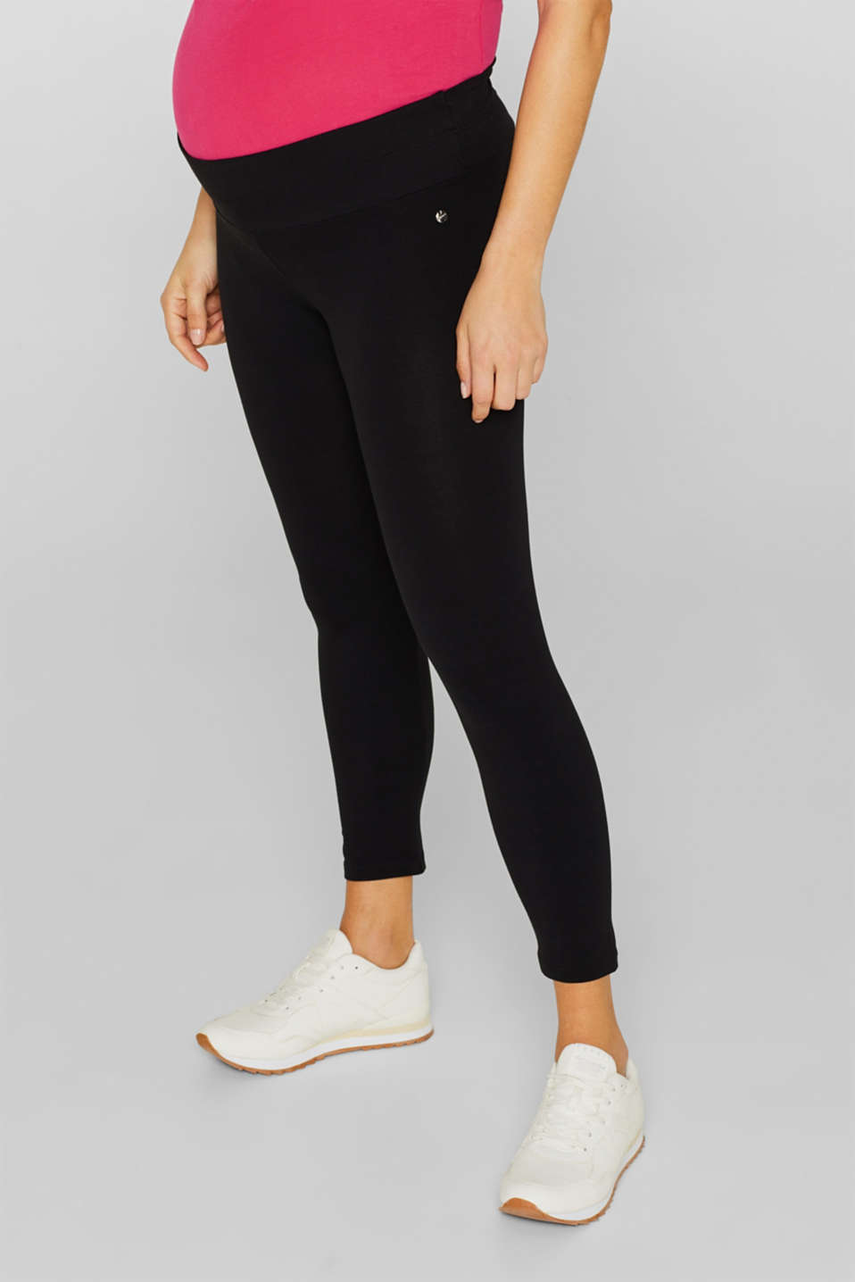Leggings with an under-bump waistband, LCBLACK, detail image number 0
