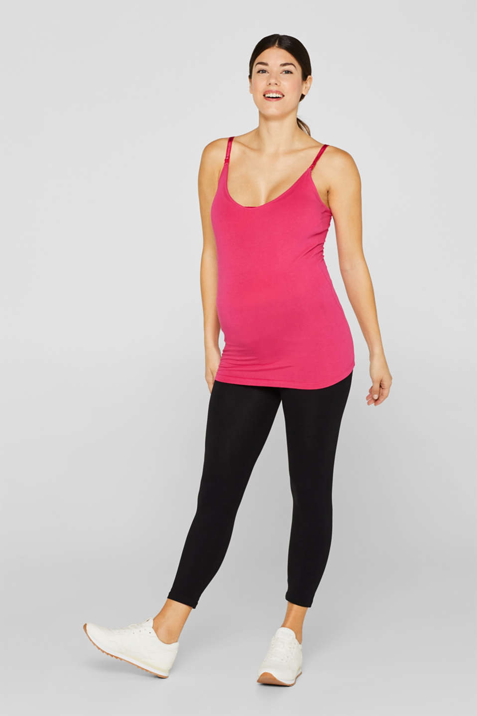 Leggings with an under-bump waistband, LCBLACK, detail image number 1