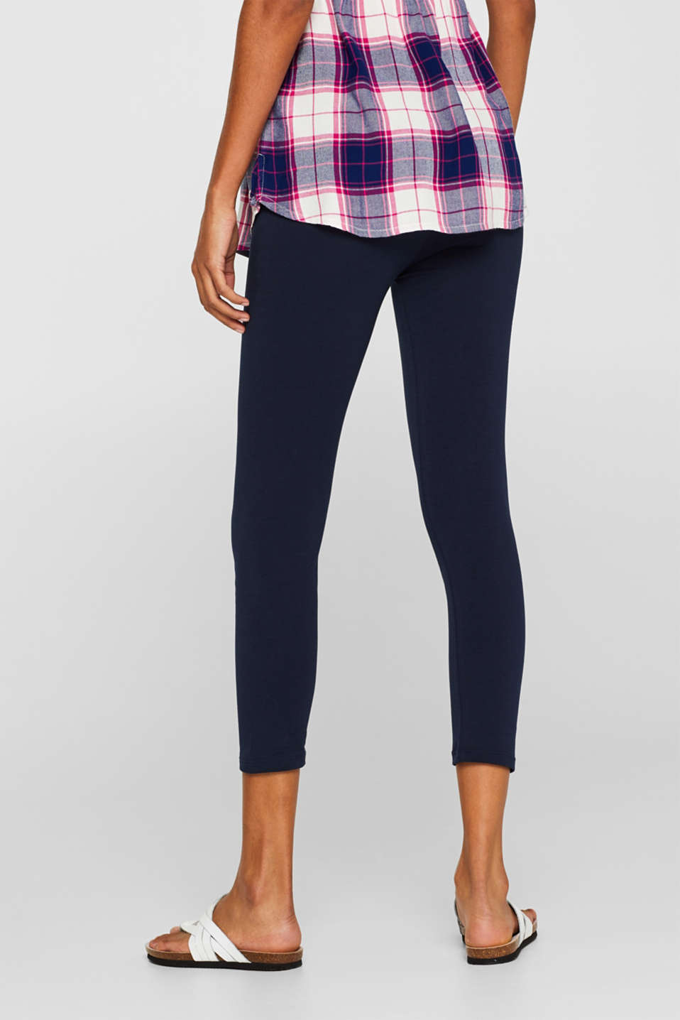 Leggings with an under-bump waistband, LCNIGHT BLUE, detail image number 4