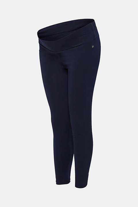 Leggings with an under-bump waistband