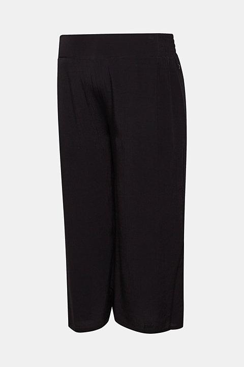 Crêpe culottes with an under-bump waistband