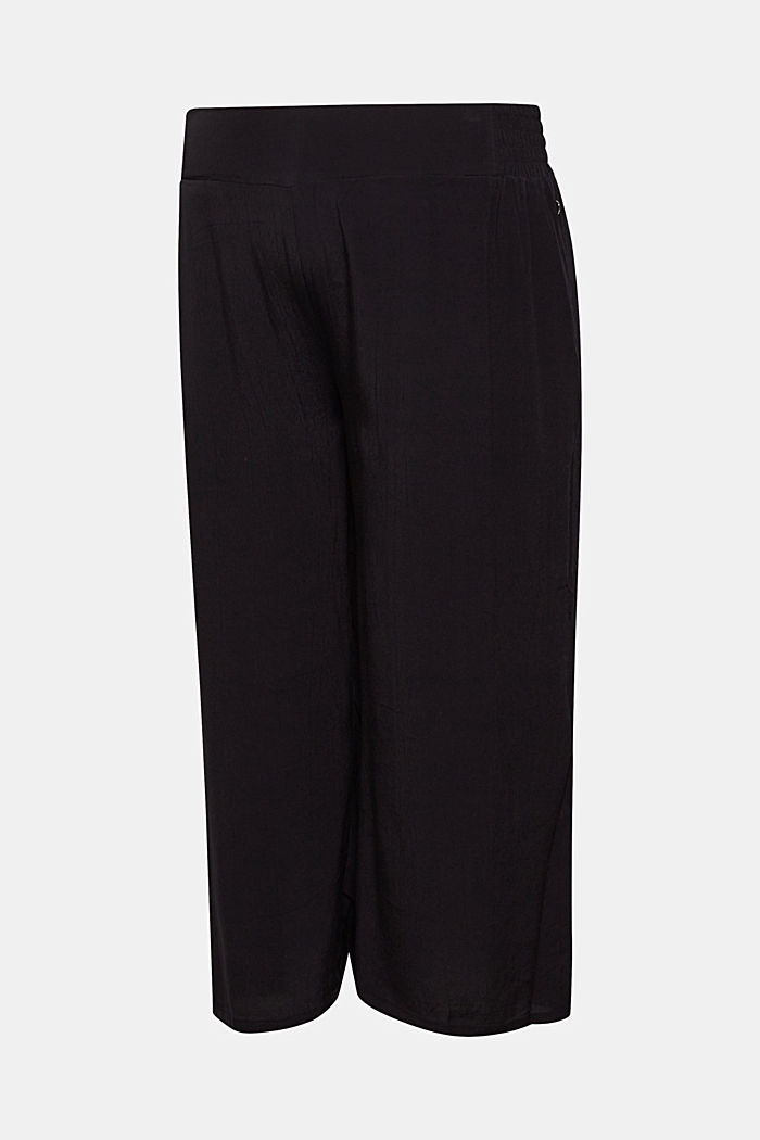 Crêpe culottes with an under-bump waistband