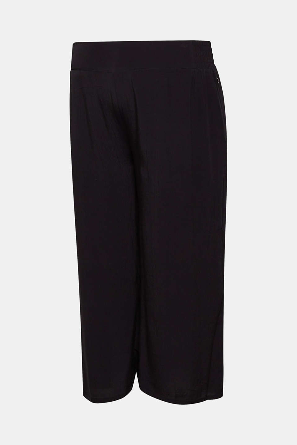 Crêpe culottes with an under-bump waistband, LCBLACK, detail image number 5