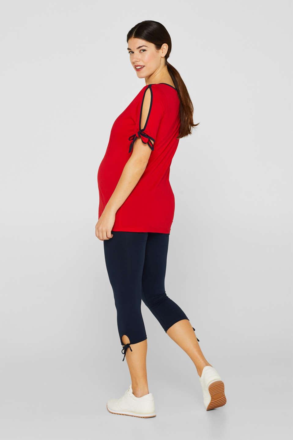 Capri leggings + under-bump waistband, LCNIGHT BLUE, detail image number 4