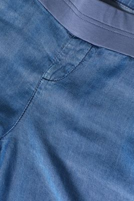 Denim-effect shorts, 100% lyocell, LCLIGHT BLUE, detail