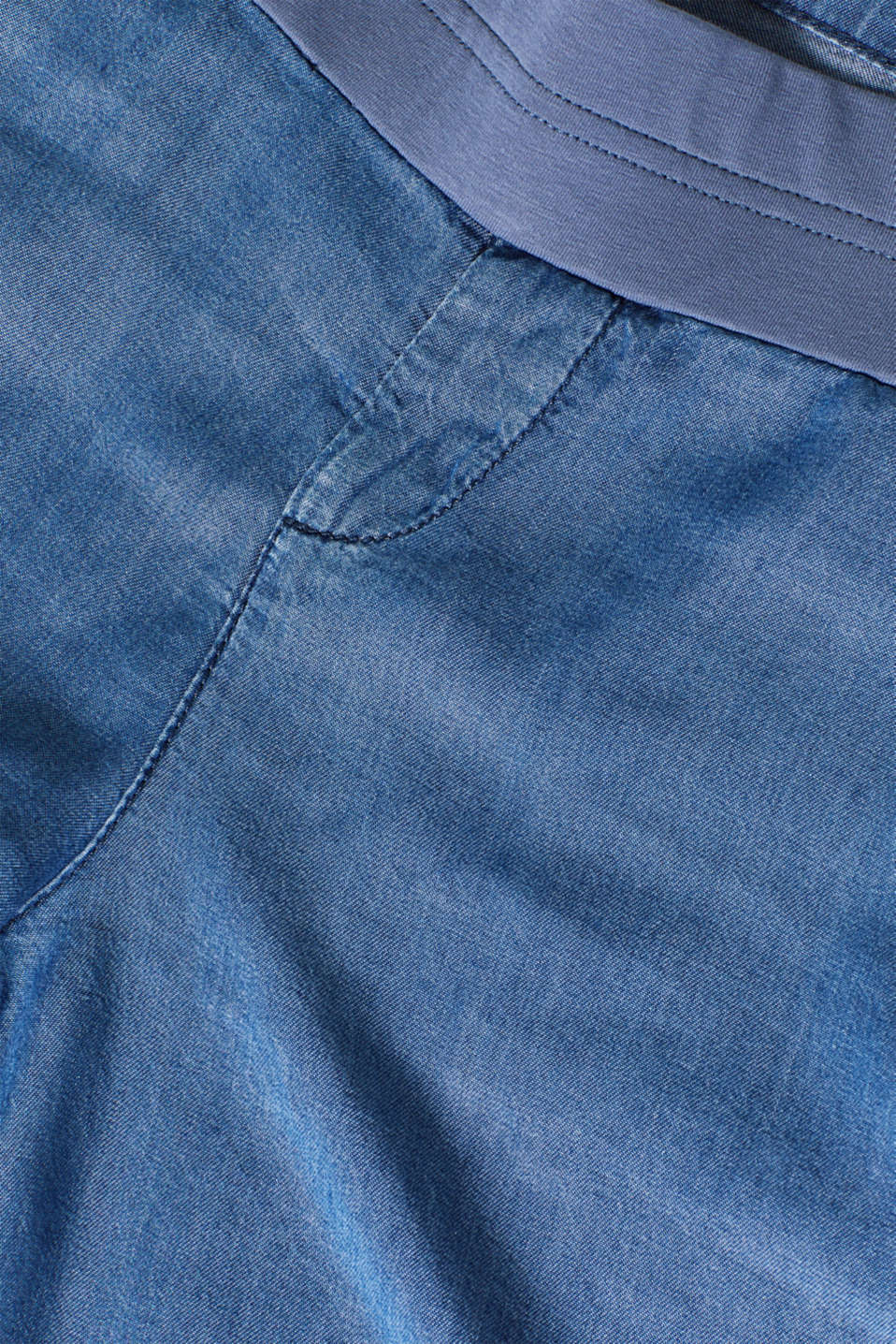 Denim-effect shorts, 100% lyocell, LCLIGHT BLUE, detail image number 4