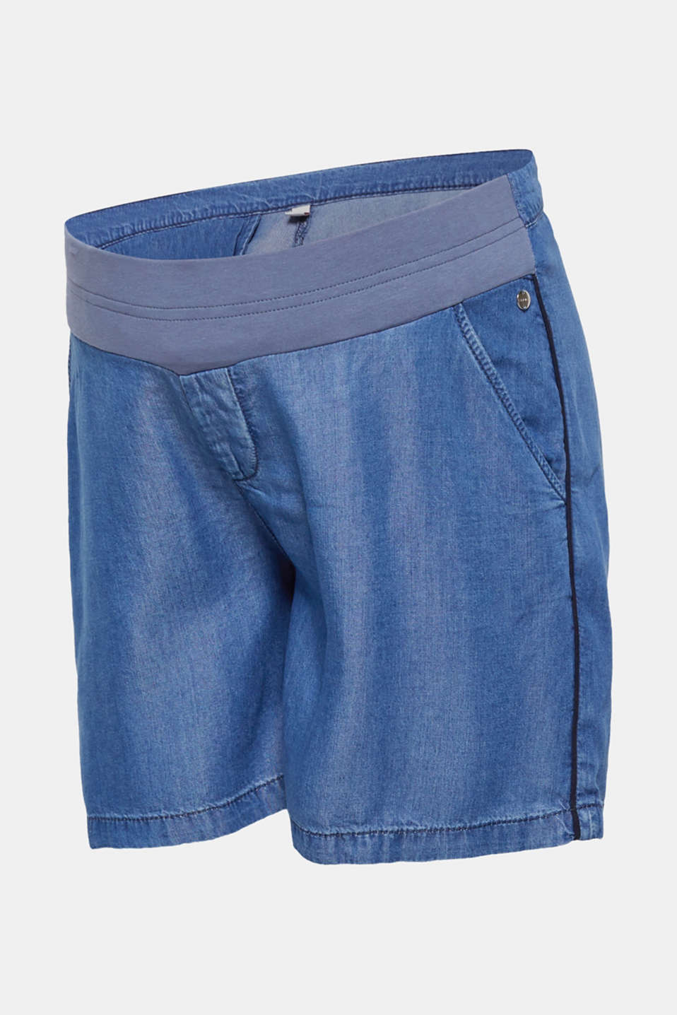 Esprit - Denim-effect shorts, 100% lyocell
