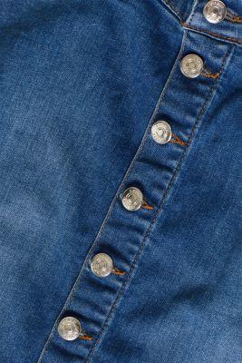 Denim skirt with over-bump waistband, LCMEDIUM WASH, detail