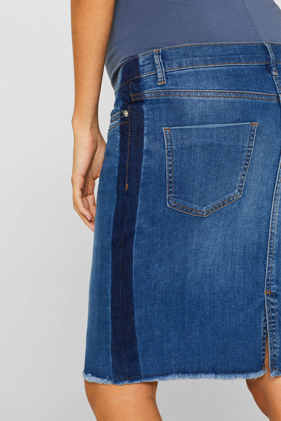 Denim skirt with over-bump waistband, LCMEDIUM WASH, detail image number 5