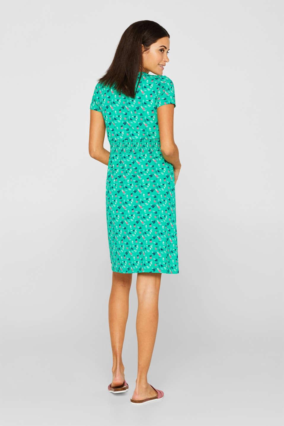 Jersey nursing dress, LCEMERALD GREEN, detail image number 2