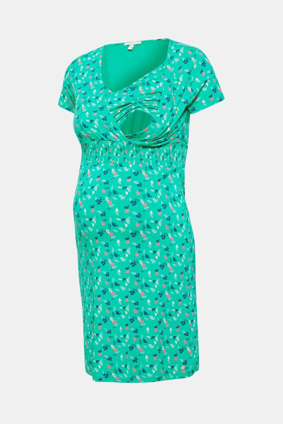 Jersey nursing dress, LCEMERALD GREEN, detail image number 5