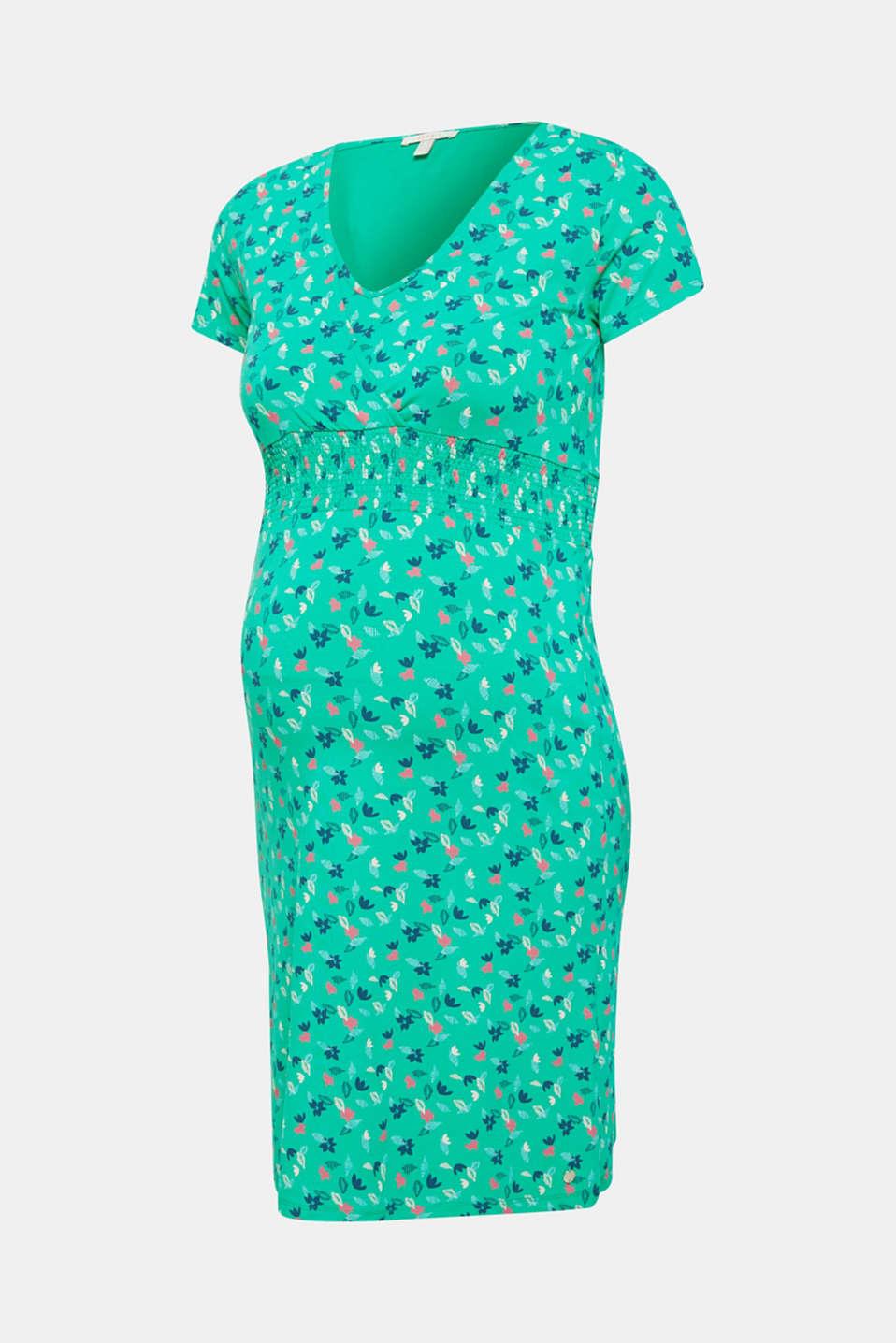 Jersey nursing dress, LCEMERALD GREEN, detail image number 6