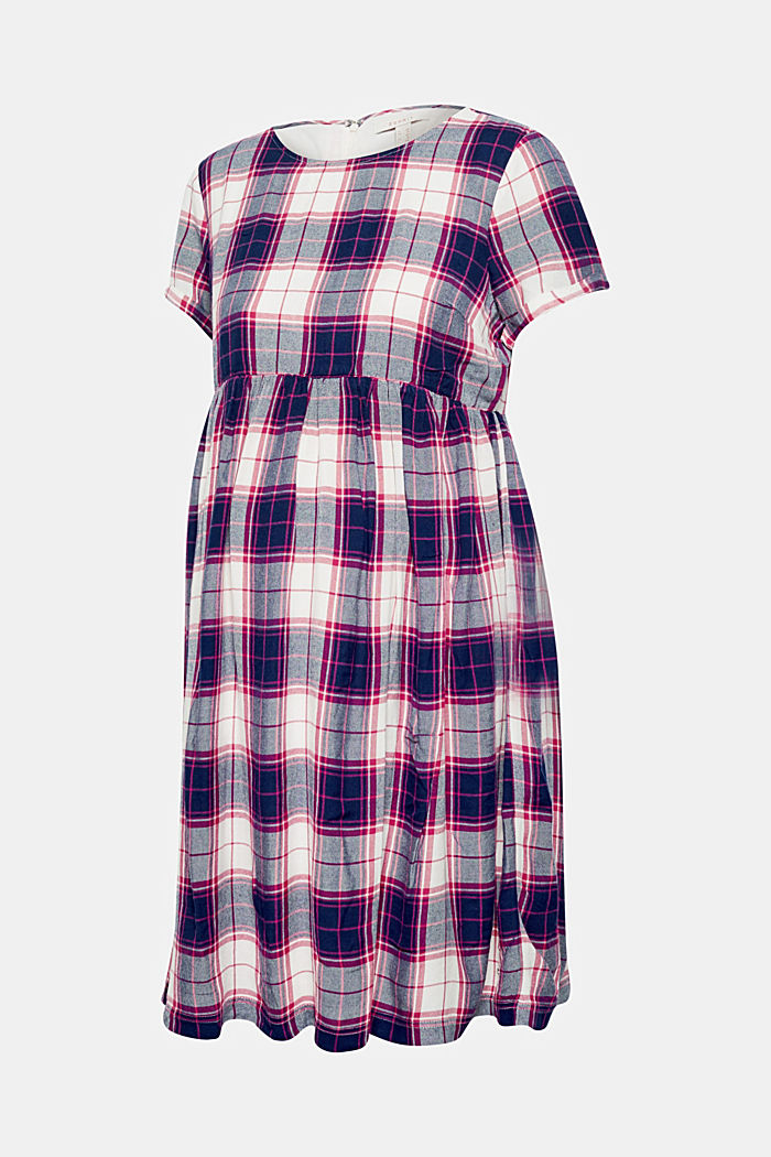 Woven check dress, DARK BLUE, detail image number 0