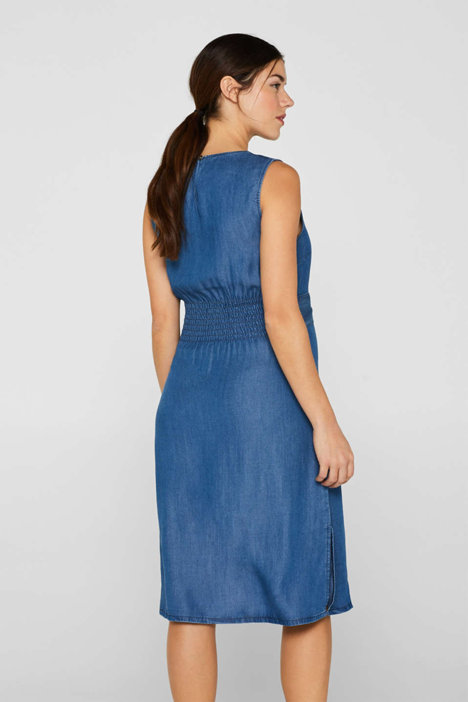 Denim dress with a belt, 100% lyocell, LCLIGHT BLUE, detail image number 3