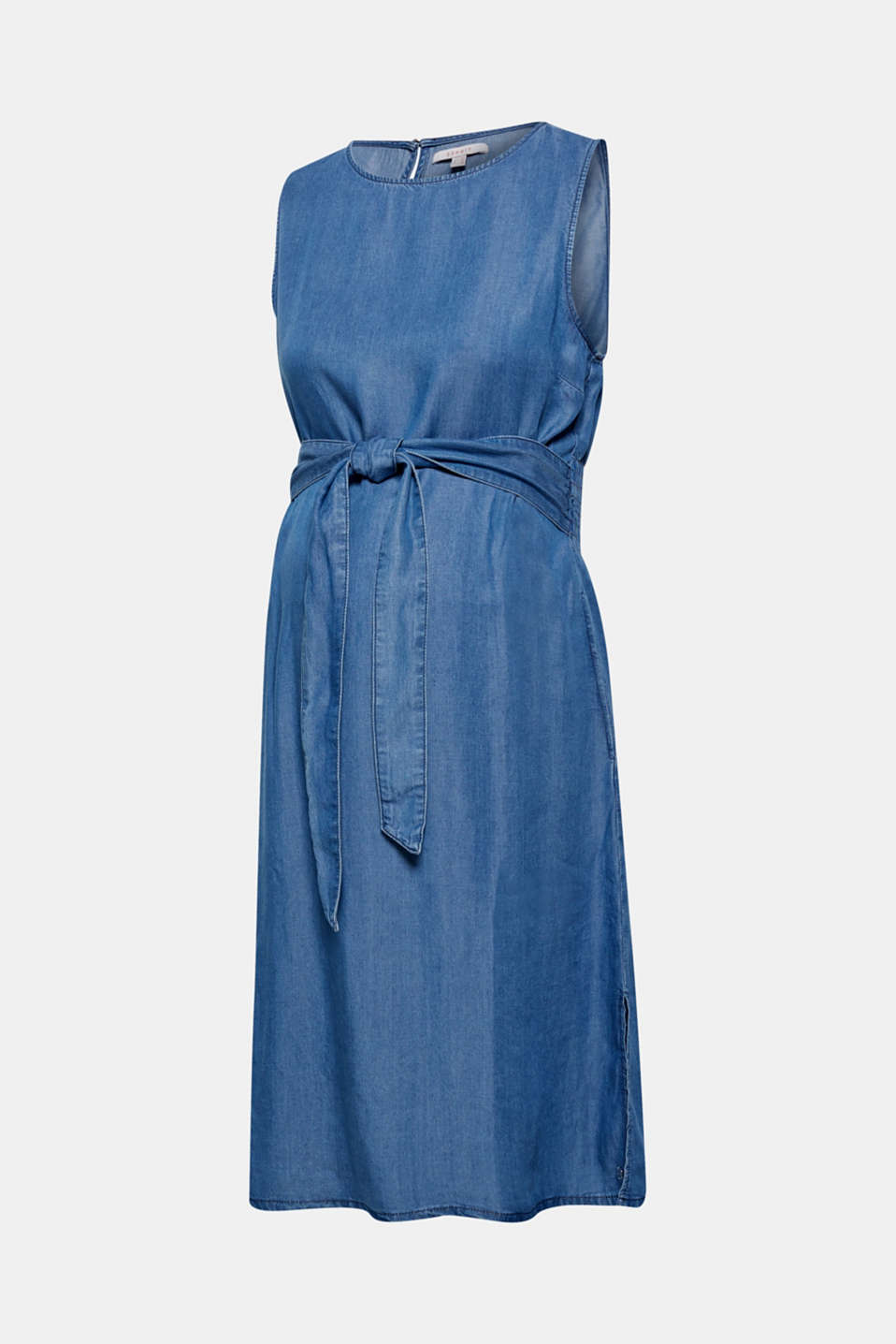 Denim dress with a belt, 100% lyocell, LCLIGHT BLUE, detail image number 6