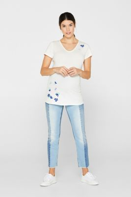 Comfy and stretchy printed T-shirt, LCOFF WHITE, detail
