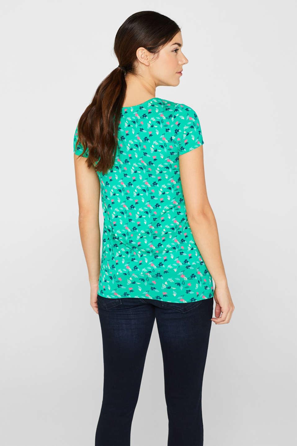 Layered nursing T-shirt, LCEMERALD GREEN, detail image number 3