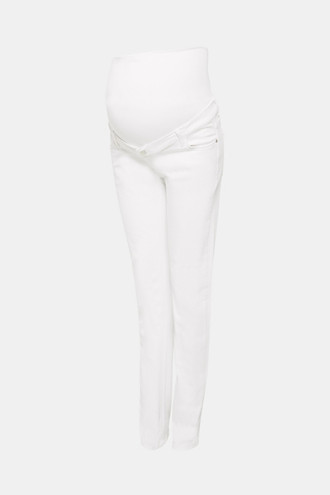 Super stretchy jeans with over-the-bump waistband