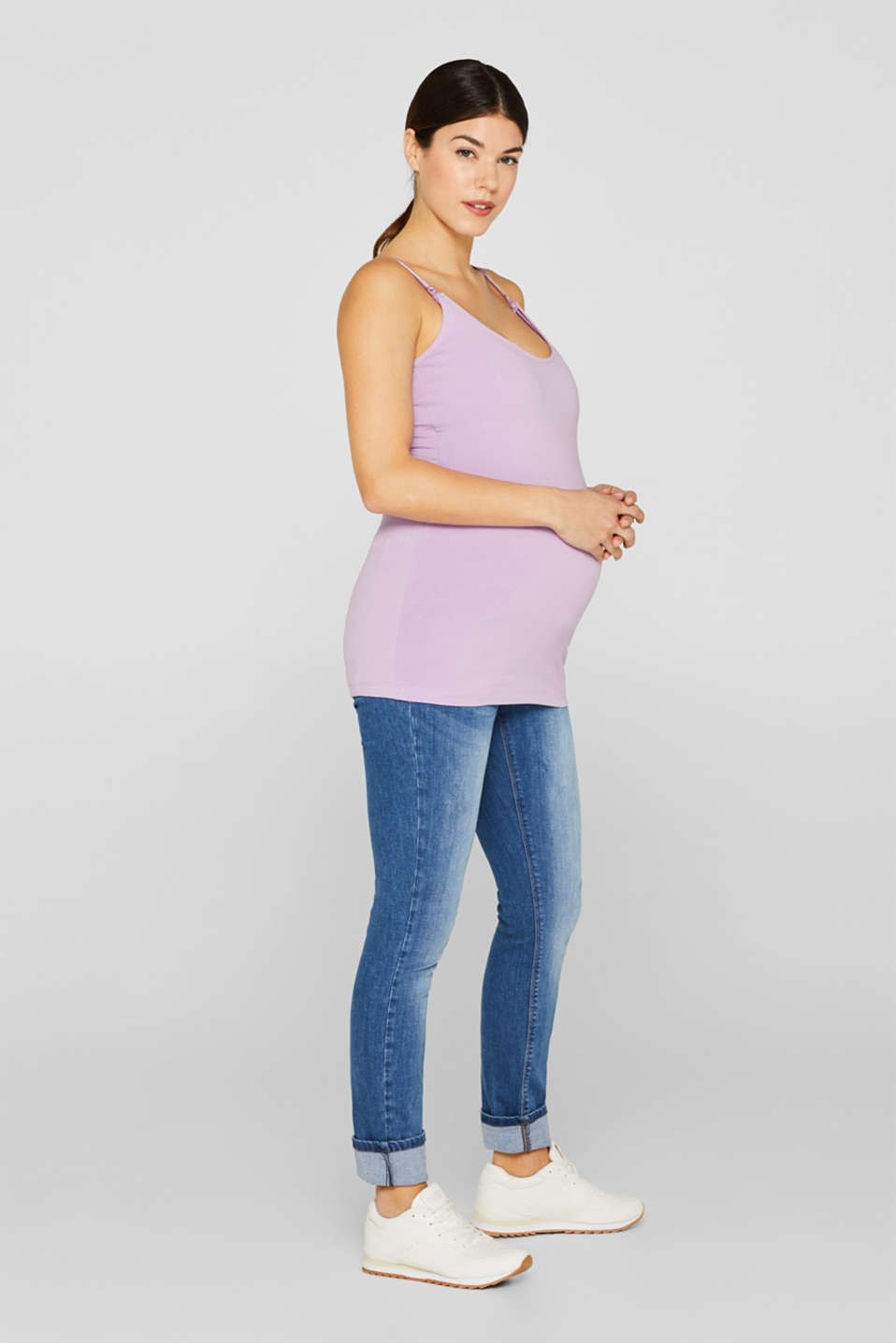 Stretch jeans with an over-bump waistband, LCMEDIUM WASH, detail image number 1