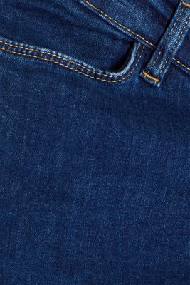 Ankle-length stretch jeans with an above-bump waistband, LCDARKWASH, detail