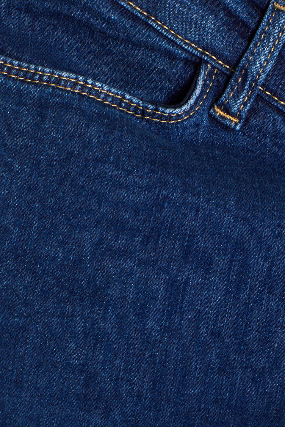Ankle-length stretch jeans with an above-bump waistband, LCDARKWASH, detail image number 4