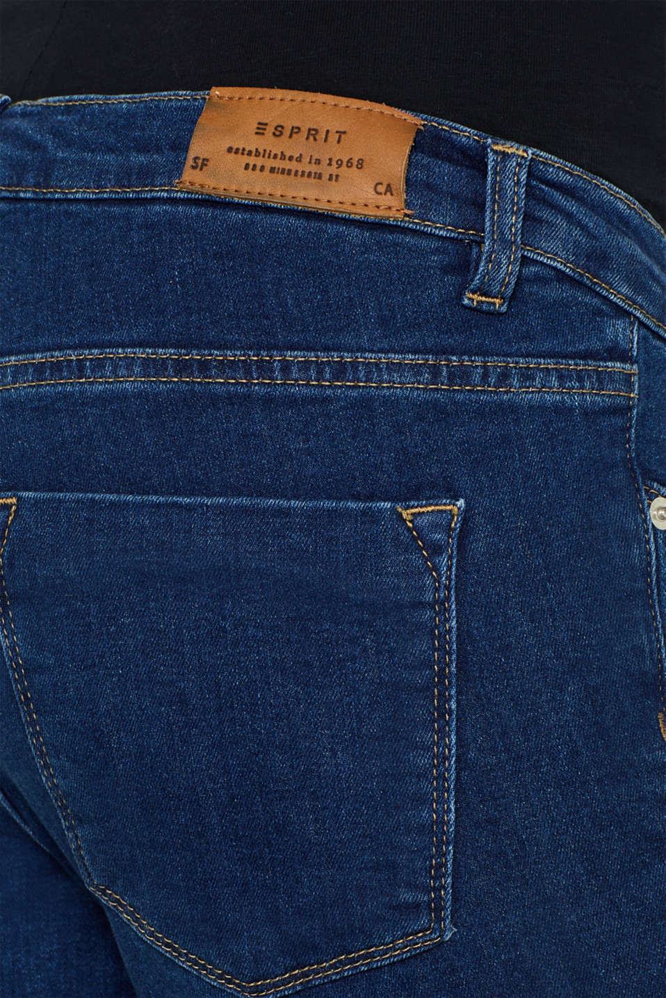 Ankle-length stretch jeans with an above-bump waistband, LCDARKWASH, detail image number 5