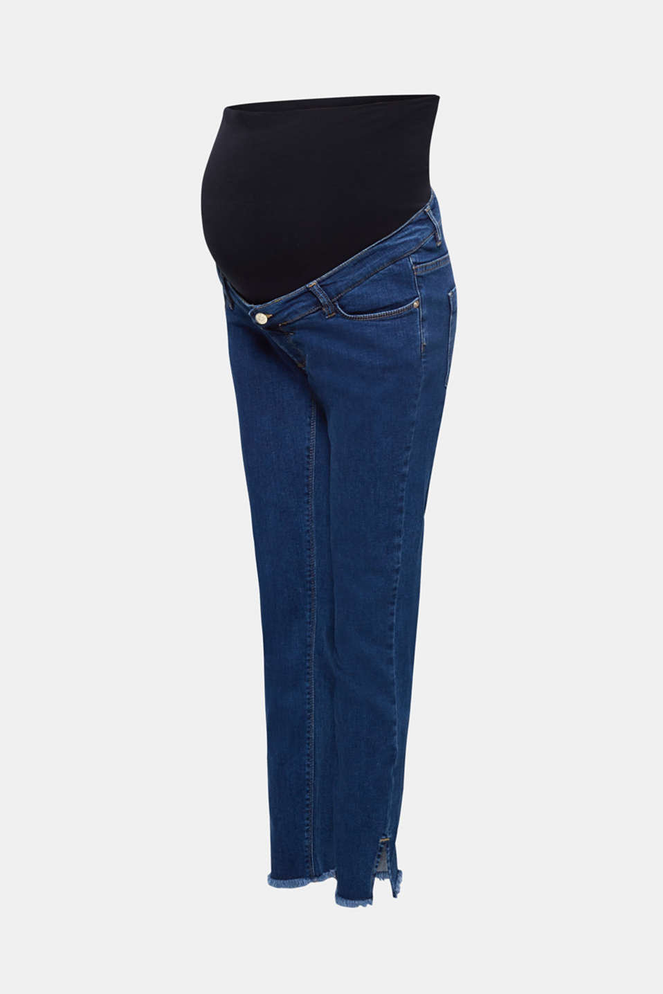 Ankle-length stretch jeans with an above-bump waistband, LCDARKWASH, detail image number 7