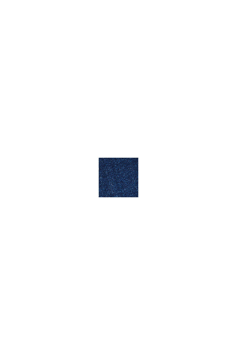 Jeans capri stretch con fondo fascia premaman, BLUE DARK WASHED, swatch