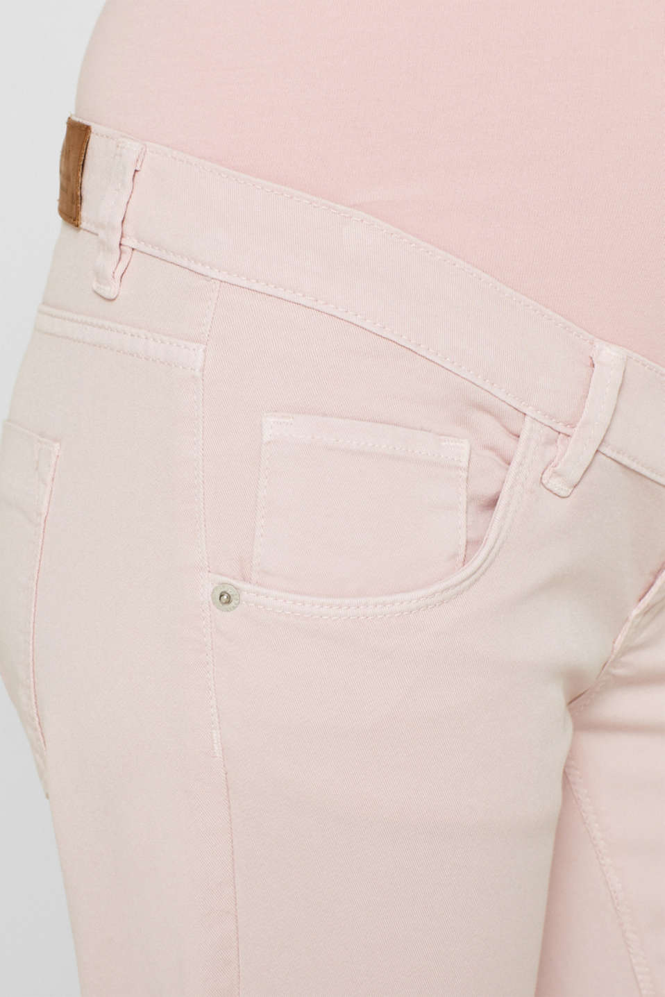 Stretch cotton shorts with an over-bump waistband, LCLIGHT PINK, detail image number 2