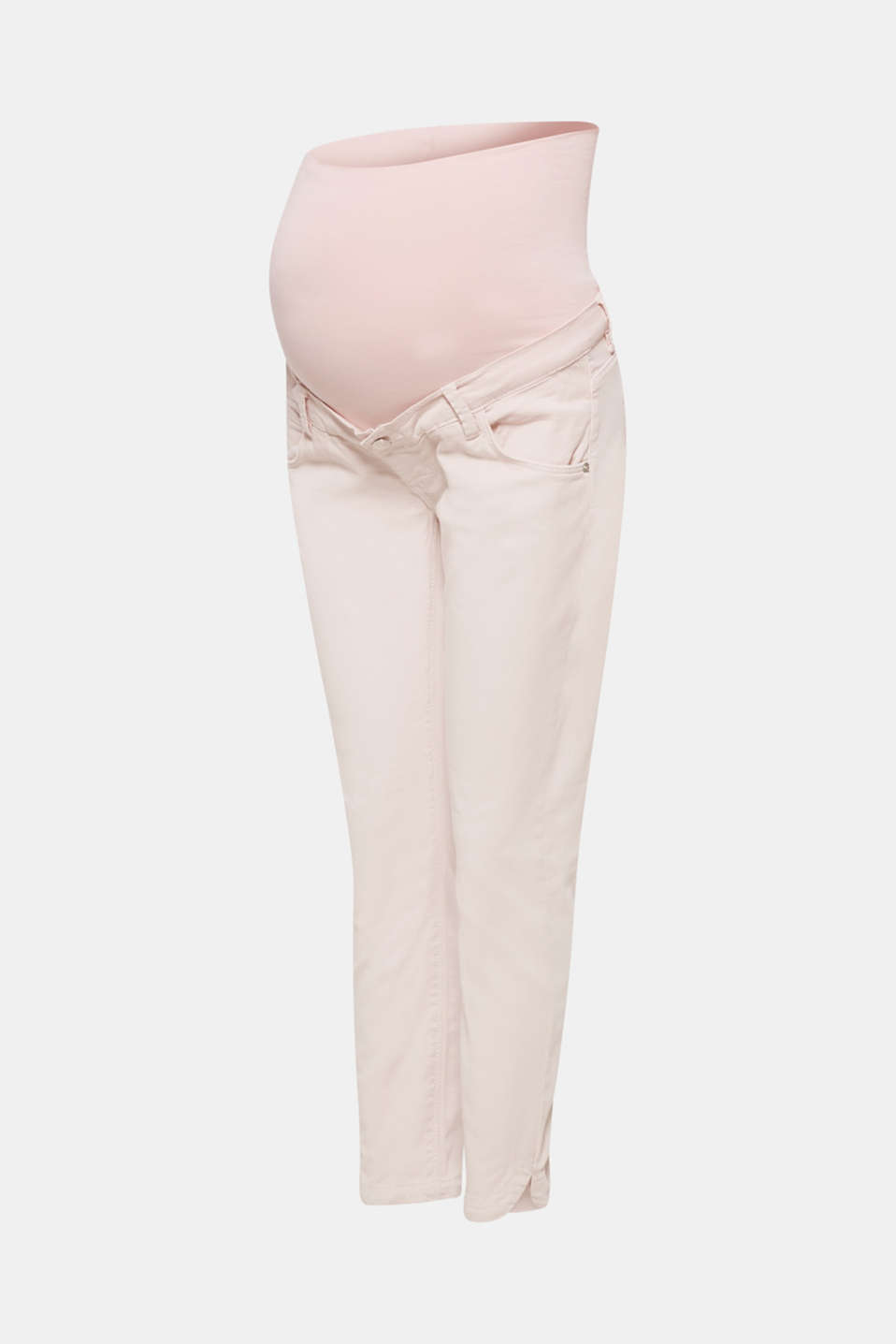 Stretch cotton shorts with an over-bump waistband, LCLIGHT PINK, detail image number 8