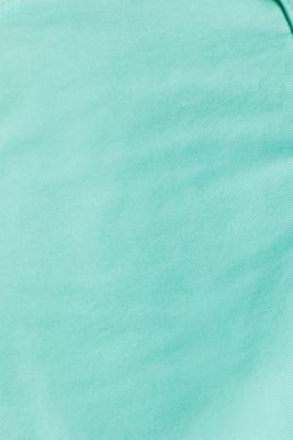 Stretch cotton shorts with an under-bump waistband, LCLIGHT AQUA GRE, detail