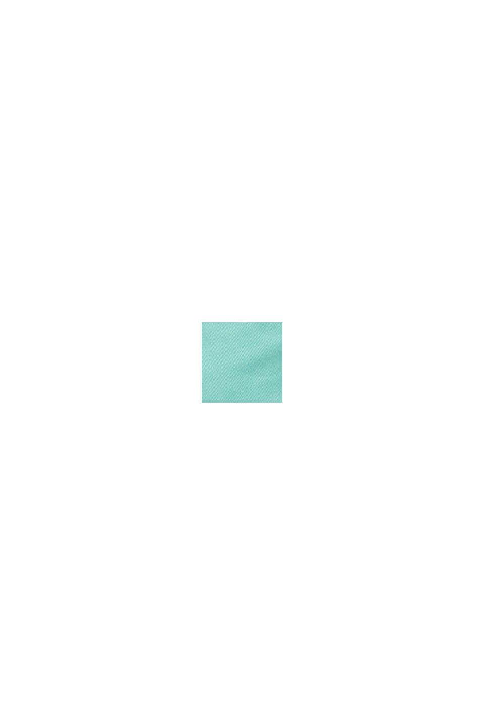 Szorty z bawełny ze streczem, z panelem, LIGHT AQUA GREEN, swatch
