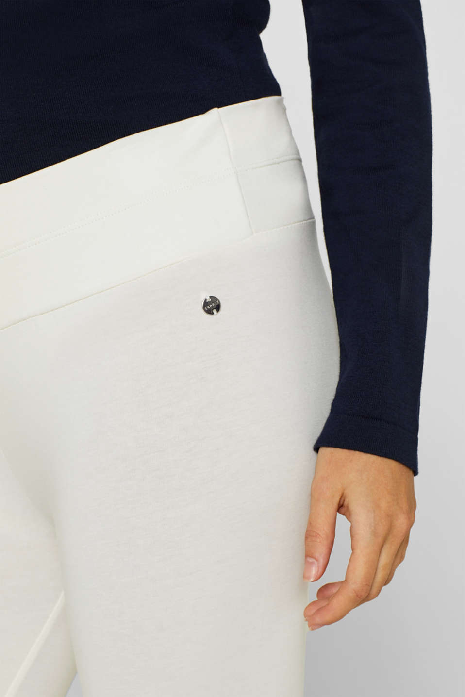 Capri leggings with a supporting, below-bump waistband, LCOFF WHITE, detail image number 2