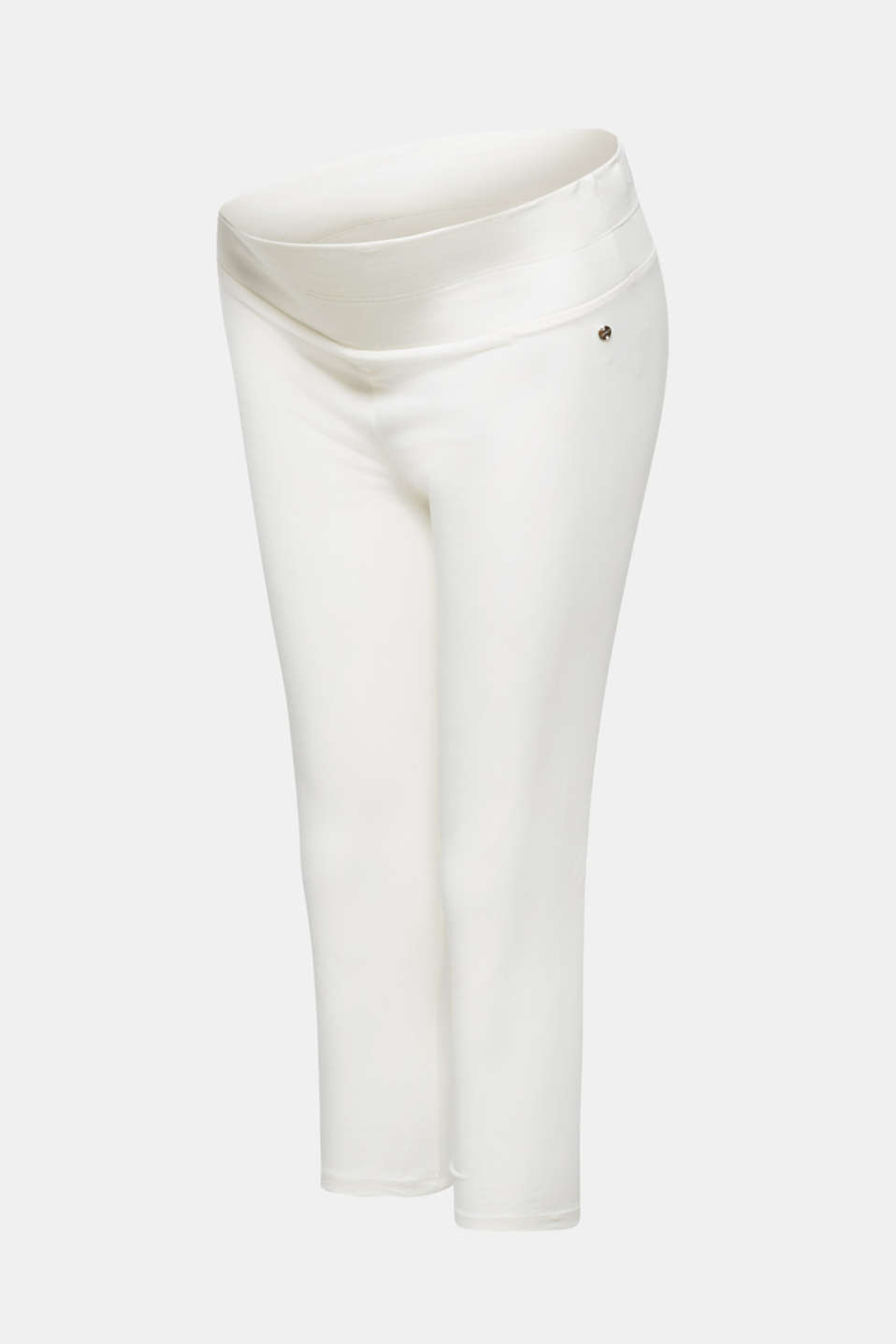 Capri leggings with a supporting, below-bump waistband, LCOFF WHITE, detail image number 3
