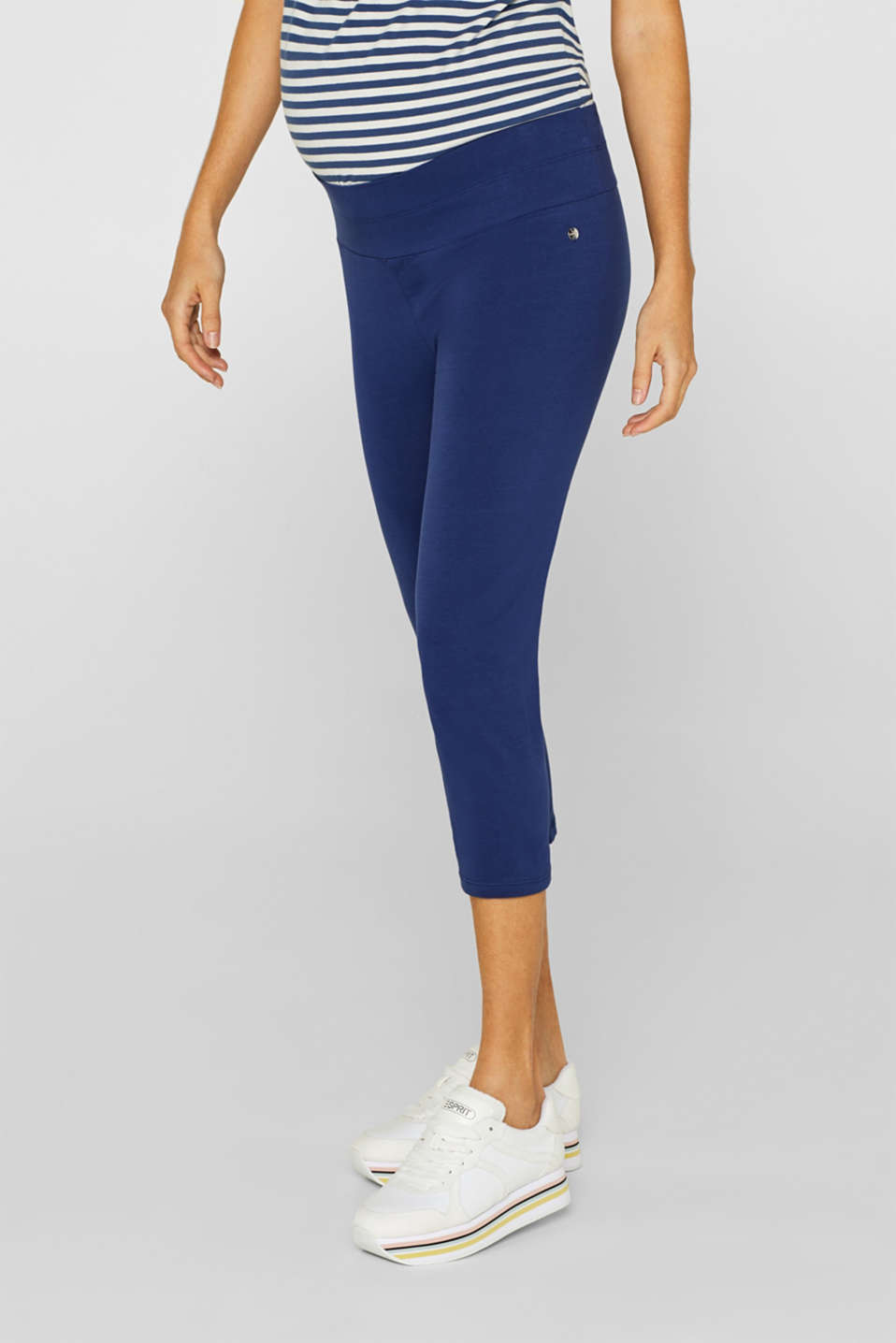 Capri leggings with a supporting, below-bump waistband, LCDARK BLUE, detail image number 1