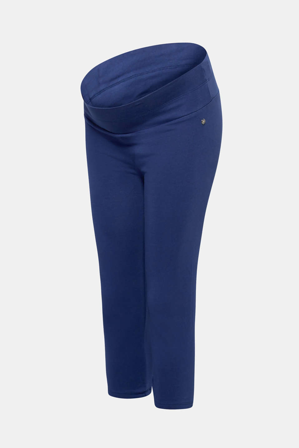 Capri leggings with a supporting, below-bump waistband, LCDARK BLUE, detail image number 3