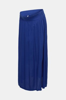 Woven maxi skirt with a below-bump waistband, LCDARK BLUE, detail