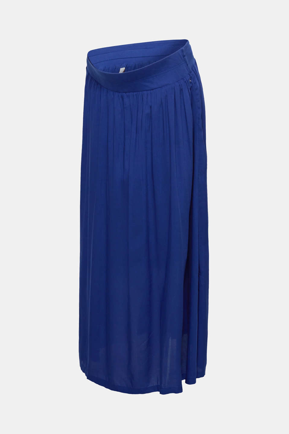 Woven maxi skirt with a below-bump waistband, LCDARK BLUE, detail image number 6