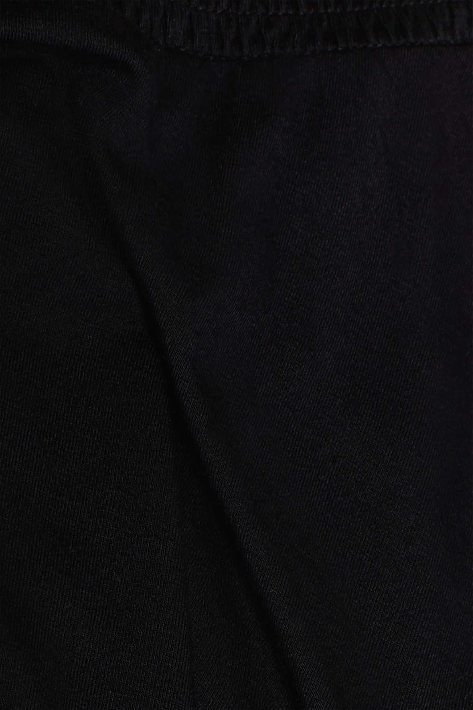 Stretch jersey skirt with a wide elasticated waistband, LCBLACK, detail image number 4