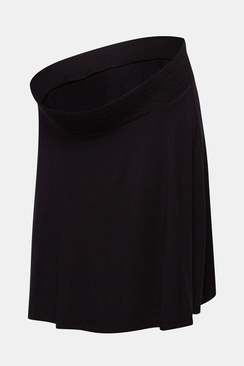 Stretch jersey skirt with a wide elasticated waistband, LCBLACK, detail image number 6
