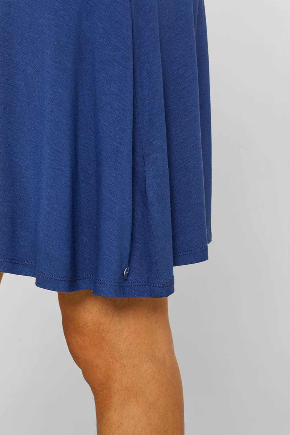 Stretch jersey skirt with a wide elasticated waistband, LCDARK BLUE, detail image number 2