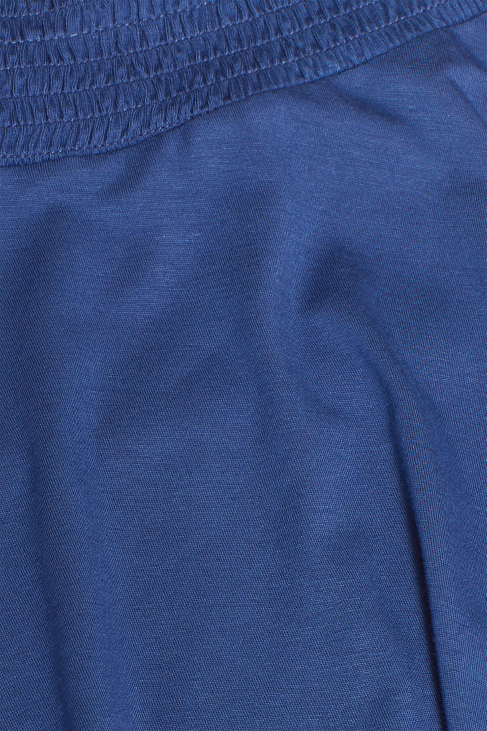Stretch jersey skirt with a wide elasticated waistband, LCDARK BLUE, detail image number 4