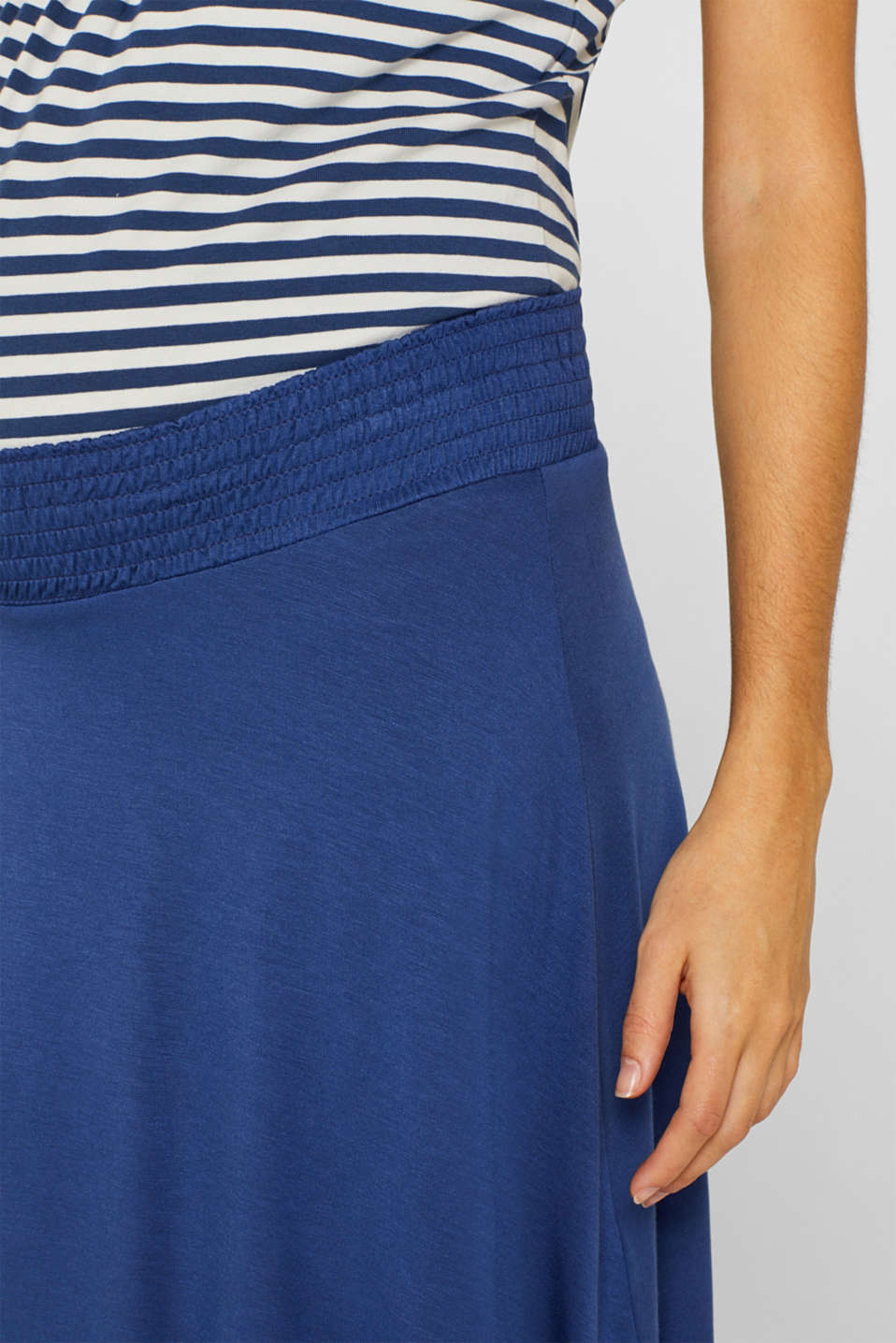 Stretch jersey skirt with a wide elasticated waistband, LCDARK BLUE, detail image number 5