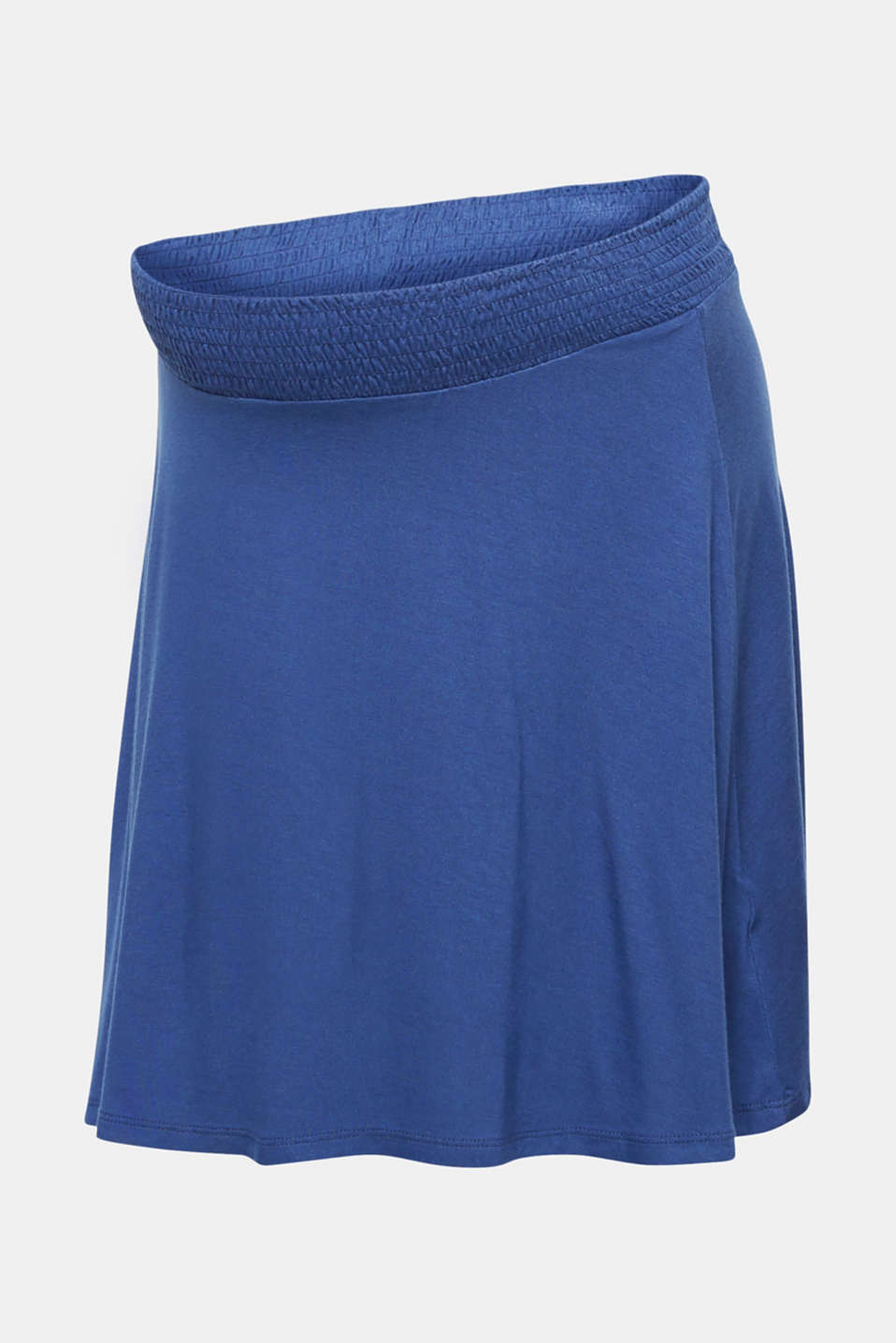 Stretch jersey skirt with a wide elasticated waistband, LCDARK BLUE, detail image number 7