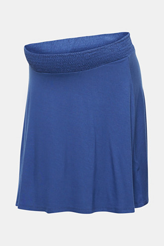 Stretch jersey skirt with a wide elasticated waistband