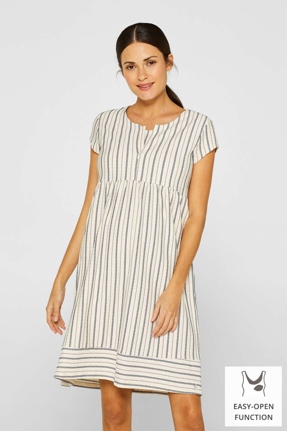 Esprit - Woven nursing dress with a textured pattern